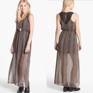 Dee Elle Animal Print Maxi Dress